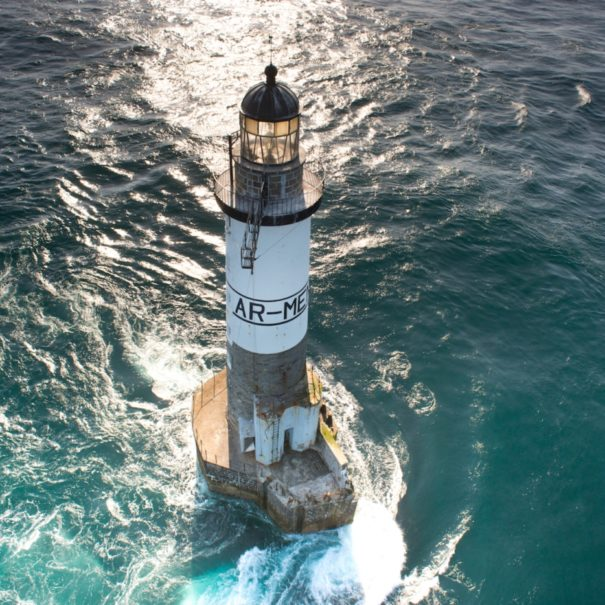 aerial view, le phare Ar Men